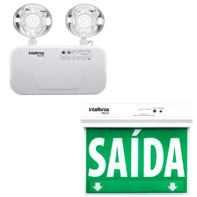 Iluminação e sinalização de emergência - Intelbrás